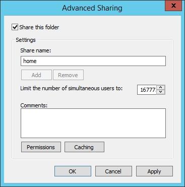 quản trị tài nguyên mạng - home folder 2
