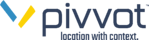 Pivvot, location with context, logo.