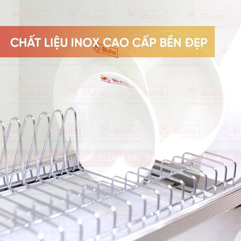 Chất liệu Inox cao cấp bền đẹp - Giá bát cố định Garis BH04 - Phụ kiện bếp chính hãng