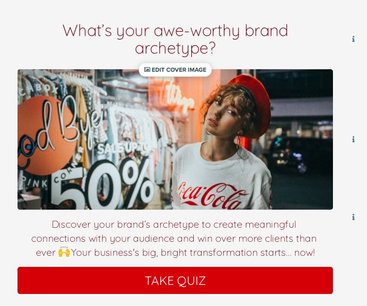 quiz cover for what's your awe-worthy brand archetype?