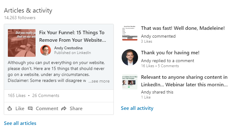 how to research a contact on linkedin