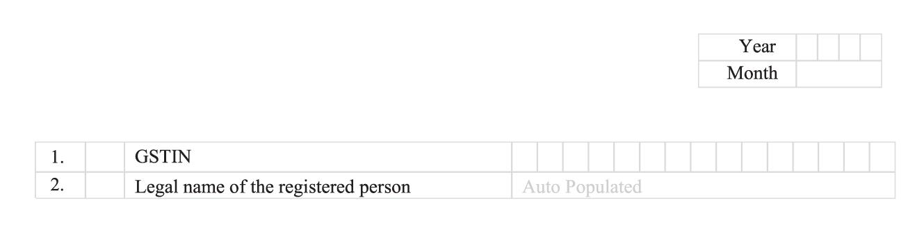 GSTR-3B filing format