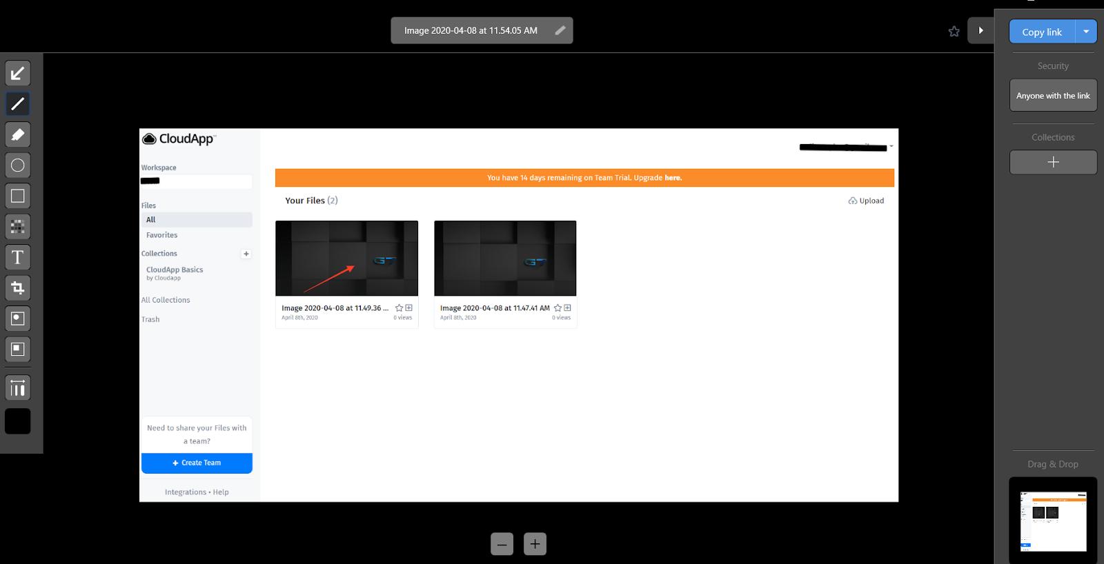 cloudapp screenshot sharing