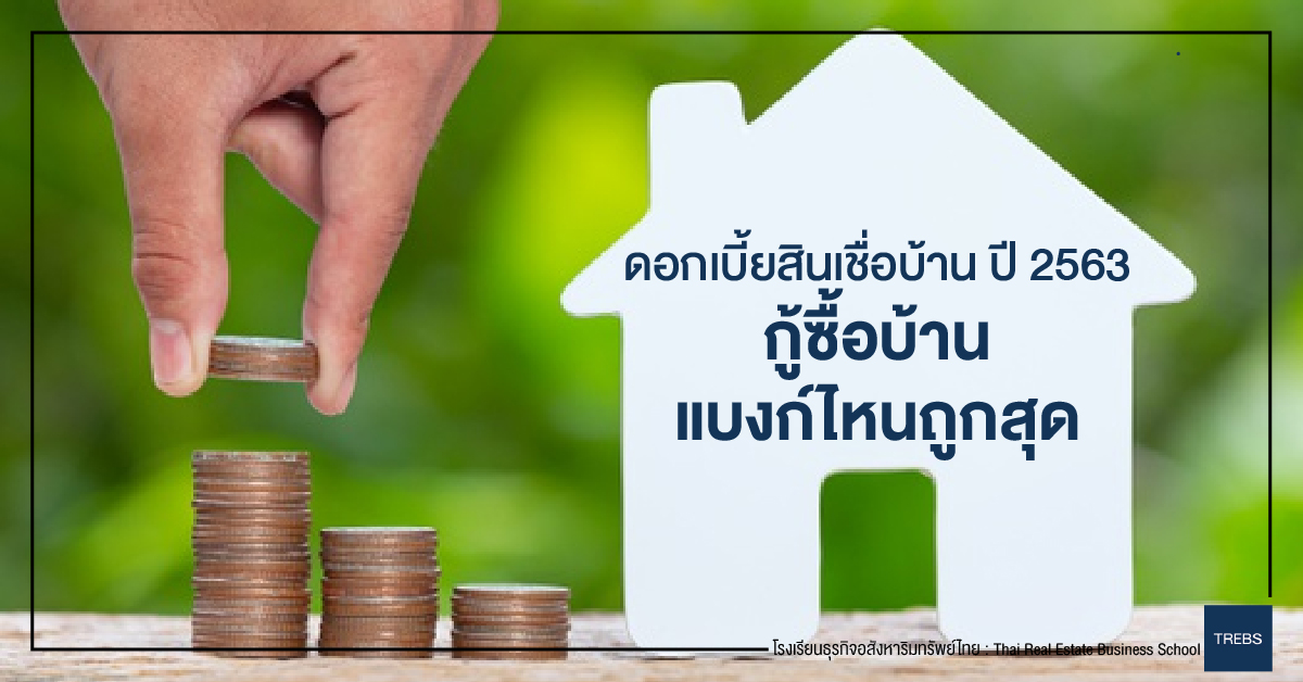อัพเดท ดอกเบี้ยสินเชื่อบ้าน ปี 2563 กู้ซื้อบ้าน แบงก์ไหนถูกสุด