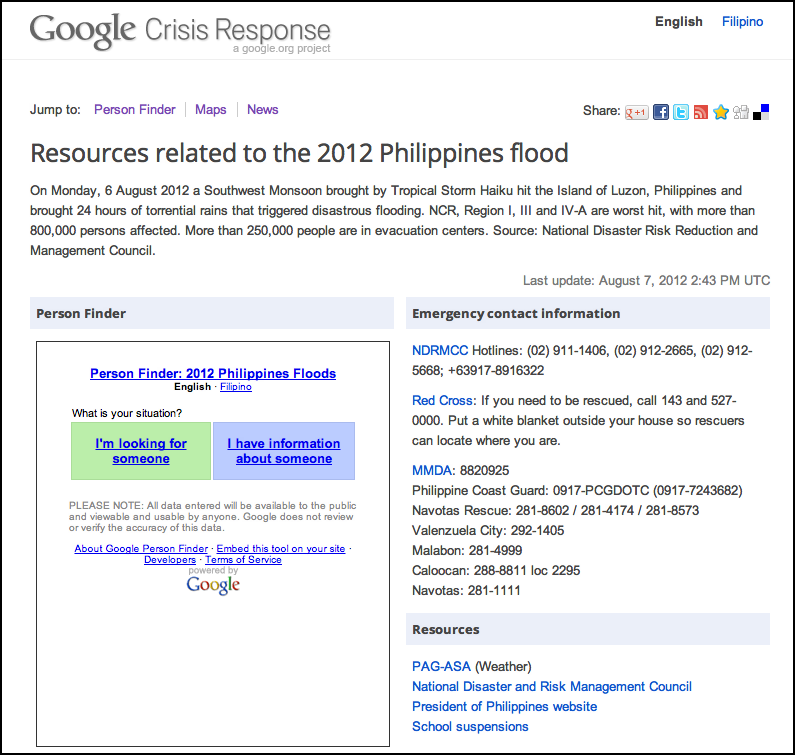 official google org blog floods in the philippines google person