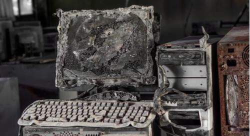 verbrannter PC