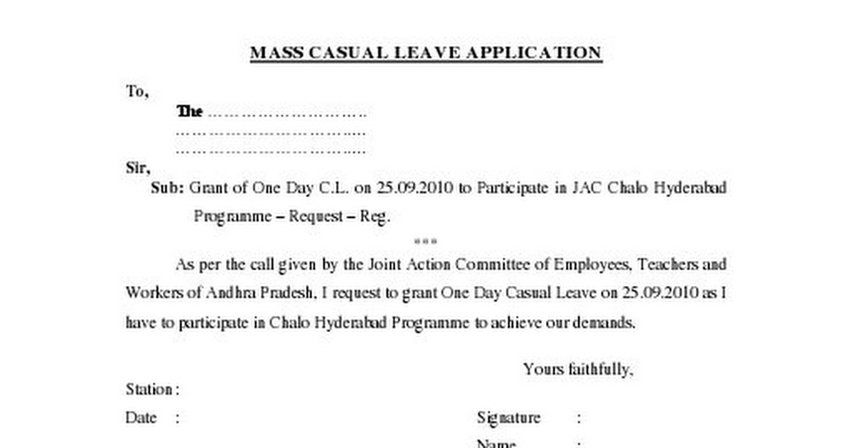 Mass Casual Leave ApplicationPdf  Google Drive