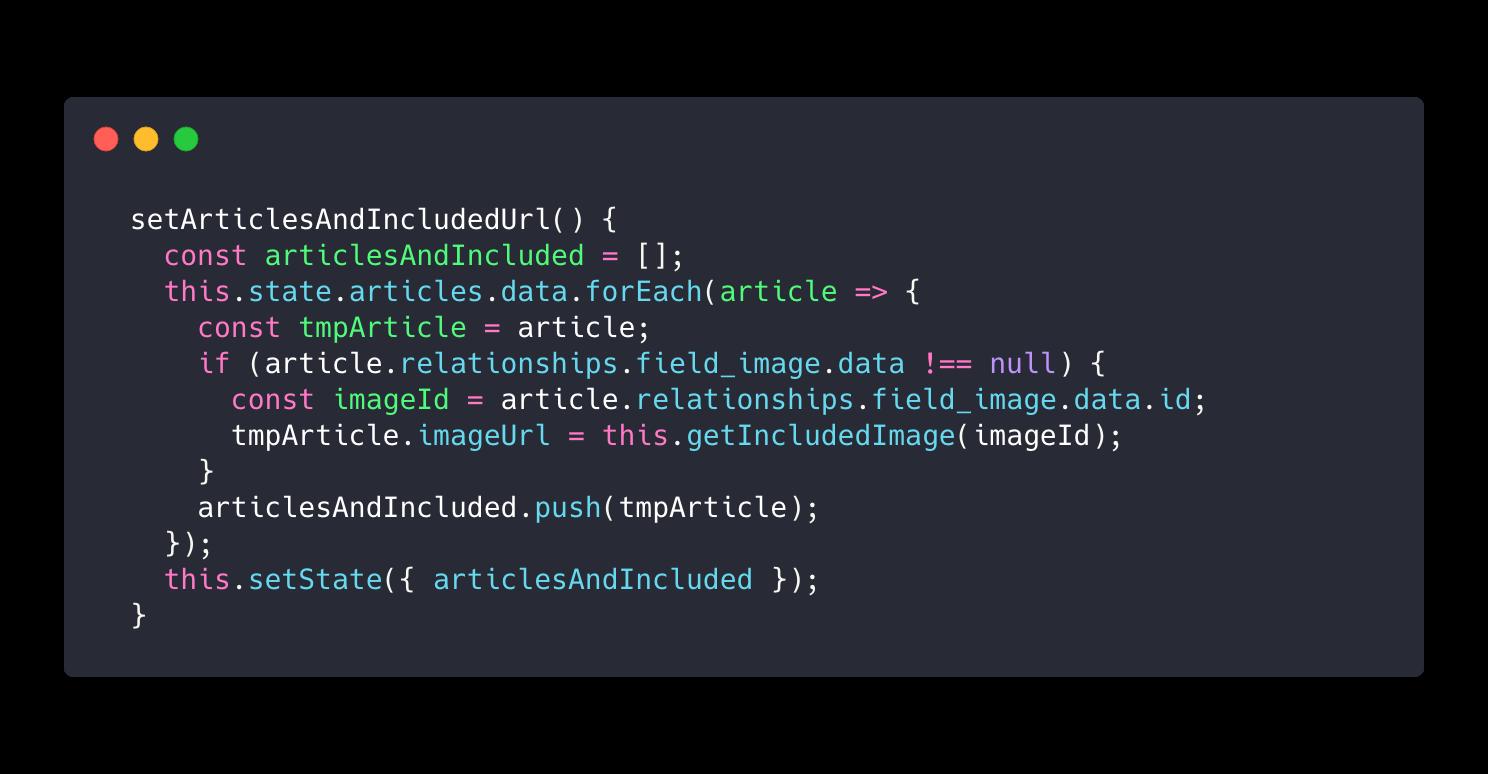 Drupal y JSON:API: ¿Cómo recuperar las imágenes de un nodo?