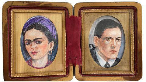 Retratos de Frida Kahlo y Alexandre Finisterre pintados por la artista mexicana