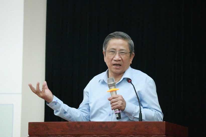 GS Nguyễn Minh Thuyết, Tổng chủ biên chương trình giáo dục phổ thông mới. Ảnh: Thanh Hùng.