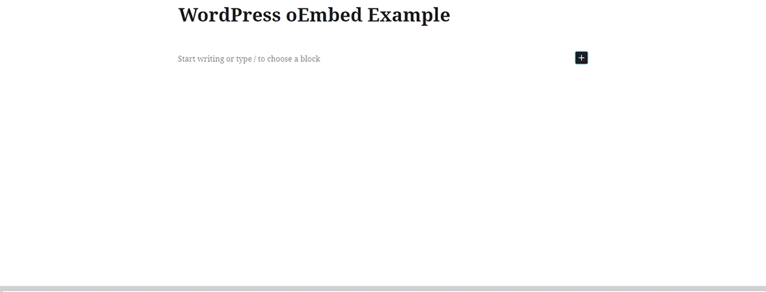 WordPress oEmbed Example