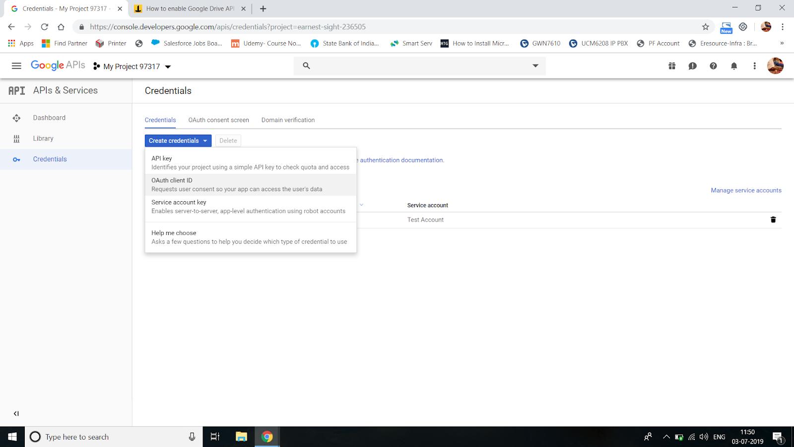 Steps to get Google API Key - Init Aura com