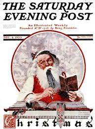 Santa's Expenses Norman Rockwell