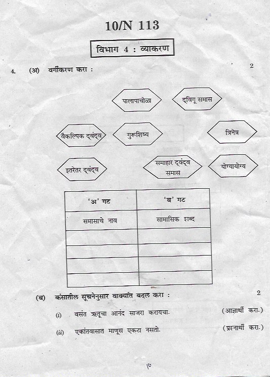 omtex classes  ssc marathi march 2018 board question paper