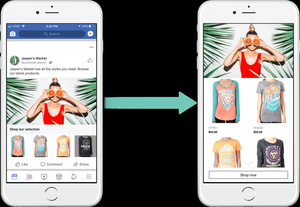 Rich results on Google's SERP when searching for 'kolekcja reklama dynamiczna facebook ads'