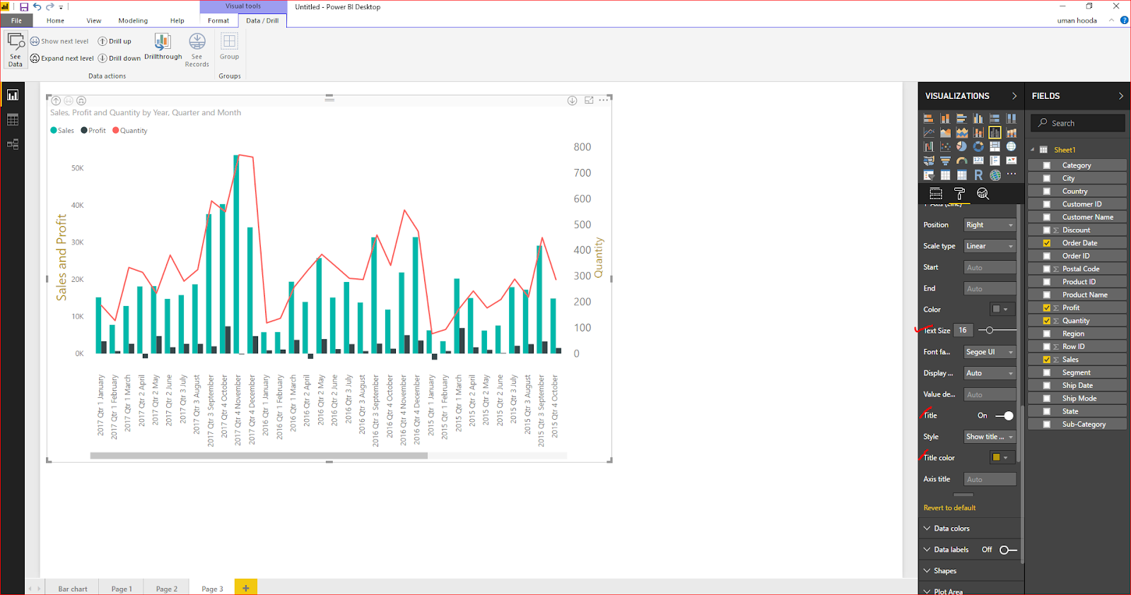 Dual Axis Chart in Microsoft Power BI - Step By Step 48