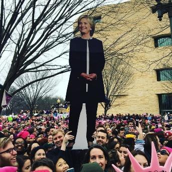 Life-sized Hillary cutout