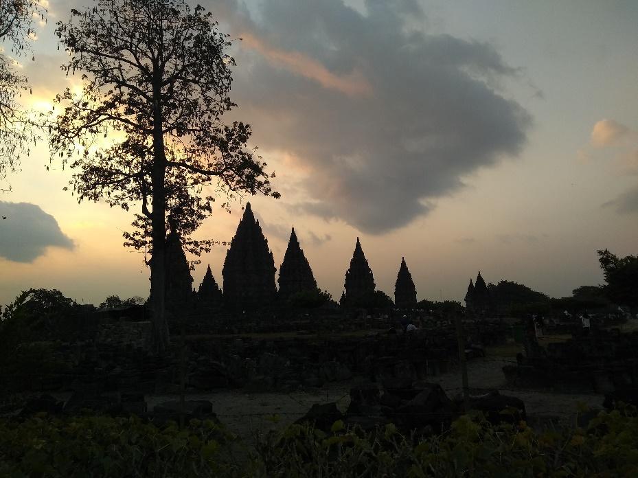 prambanan temple view