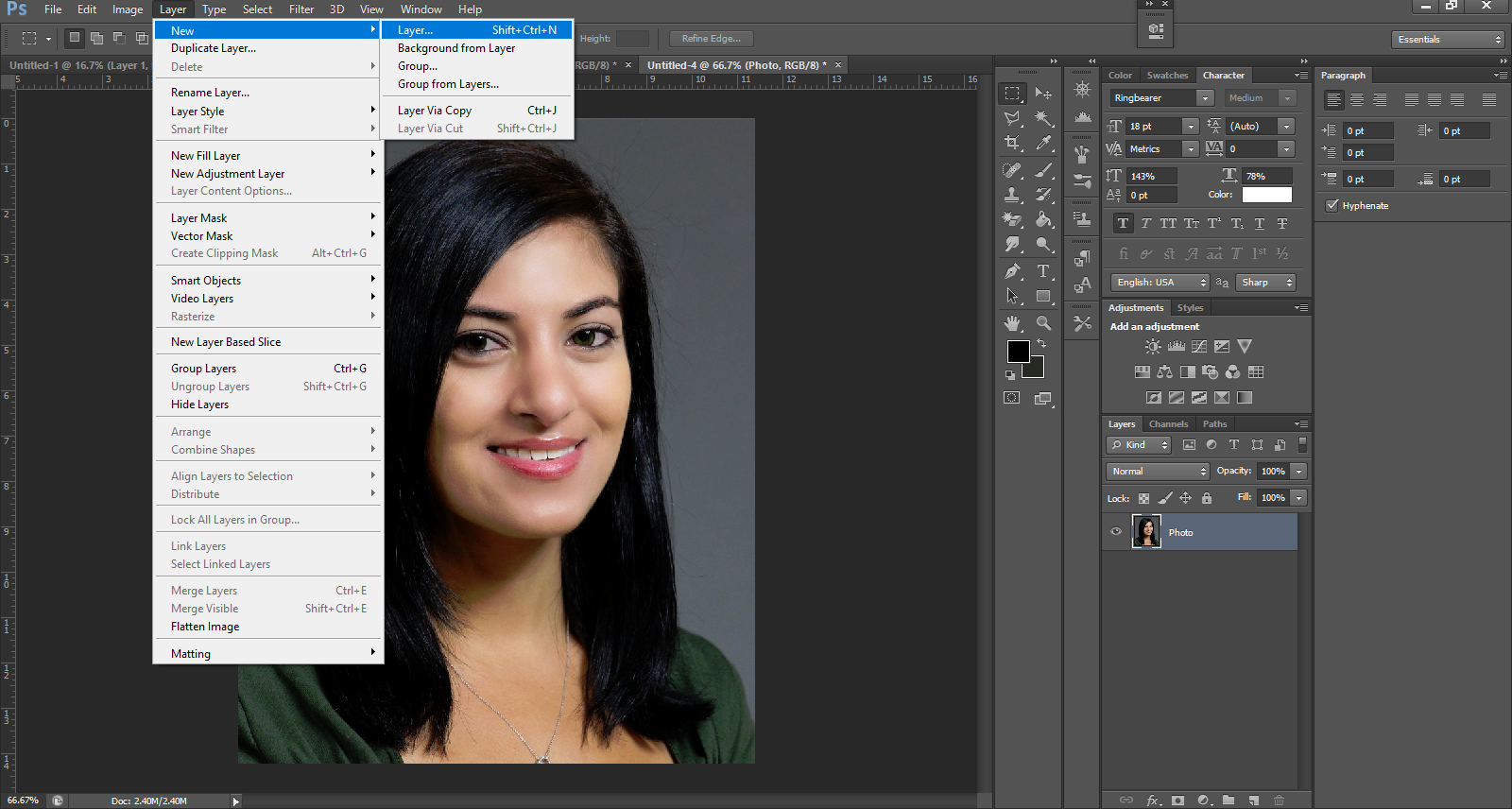 directions for photoshop