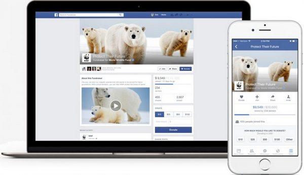 Совсем недавно Facebook принял участие в крупном благотворительном сборе средств