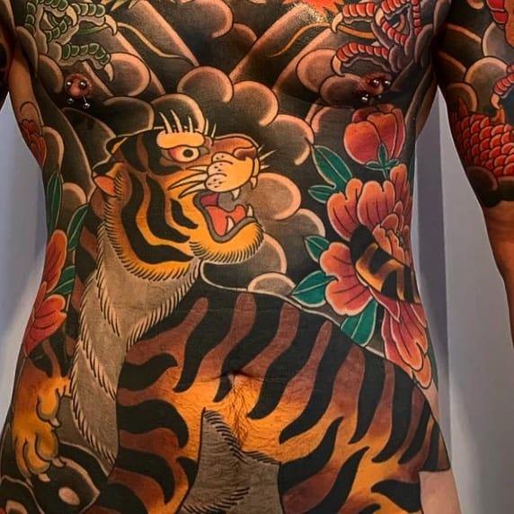 ลายสักเสือ ญี่ปุ่น