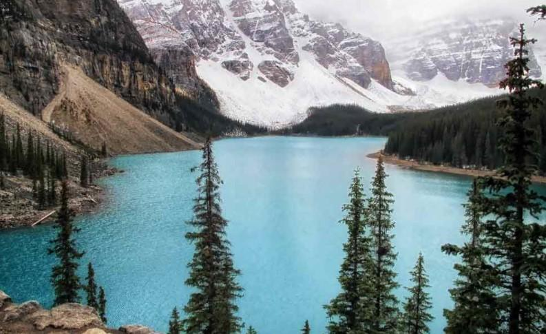 Lake Louise things - hike the Rockpile for a view of Moraine Lake
