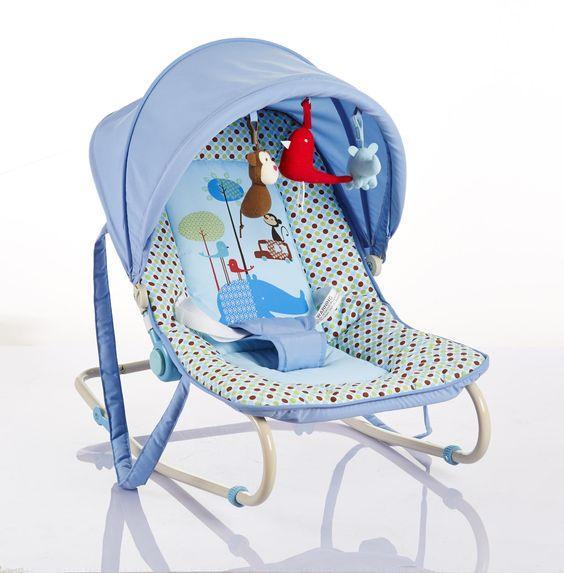 Cute Baby Bouncer Rocker (Blue)