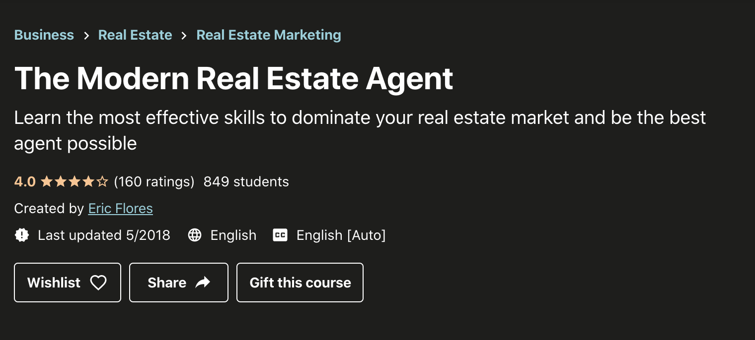 Real Estate Courses Udemy