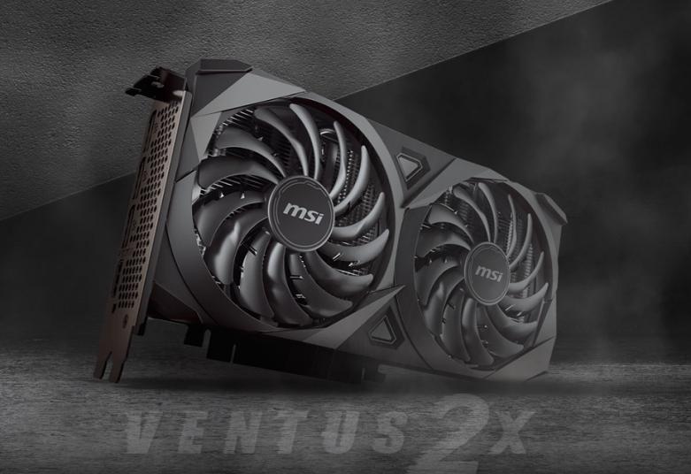 VGA MSI GeForce RTX 3060 VENTUS 2X 12G OC | Thiết kế nhỏ gọn