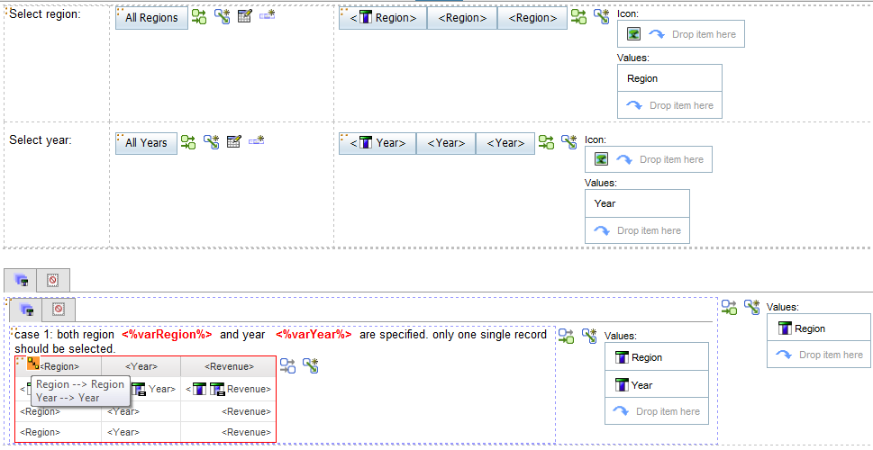 master detail relationship in cognos 10 user