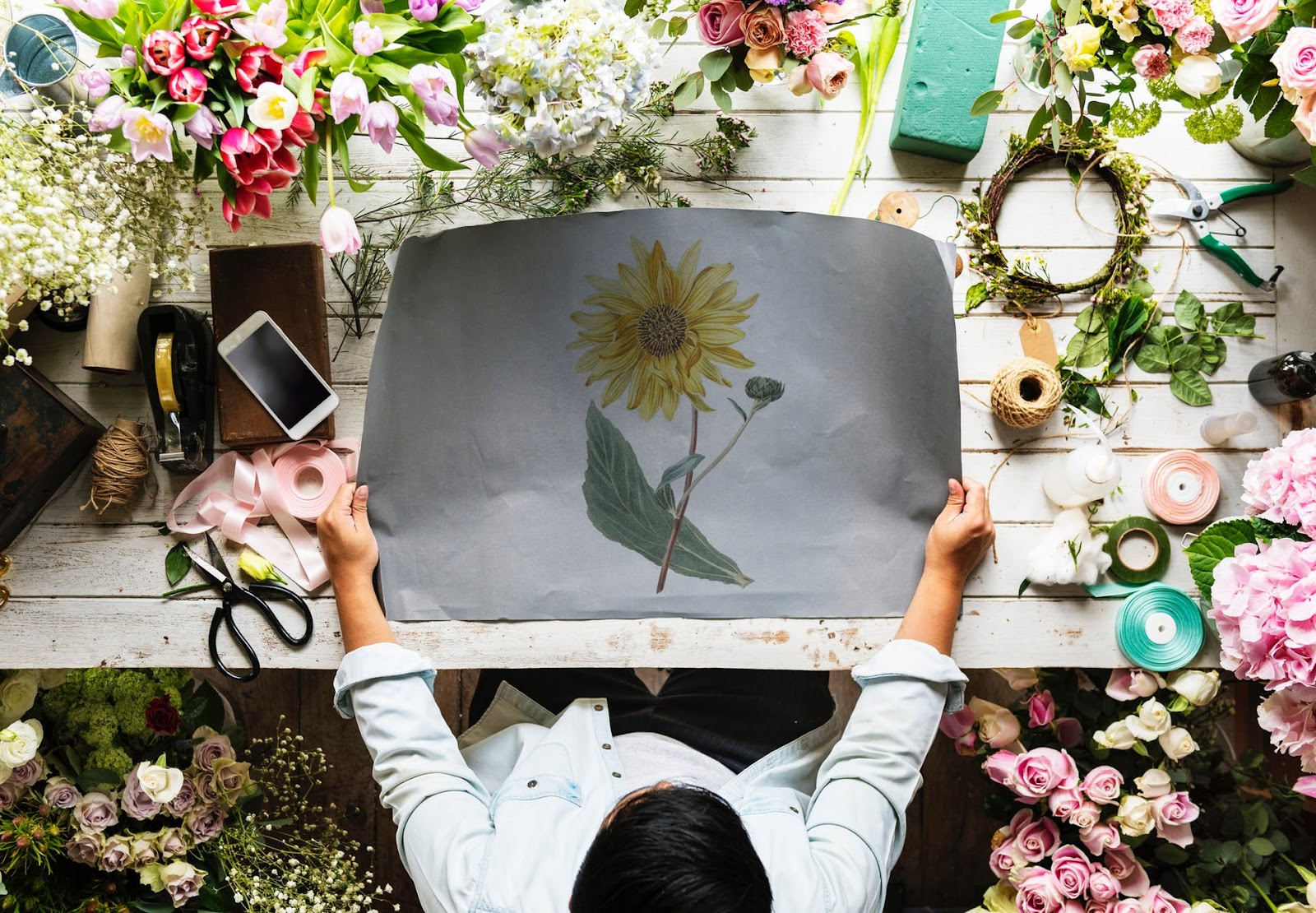 Yellow Sunflower Illustration