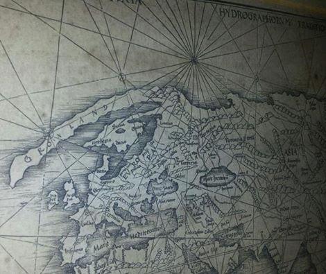 1513 Martin Waldseemuller Europa och Grönland