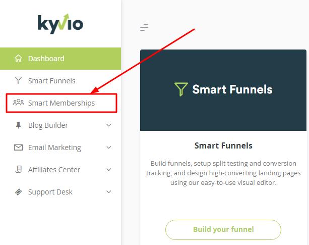 How do I set up my Kyvio Smart membership?