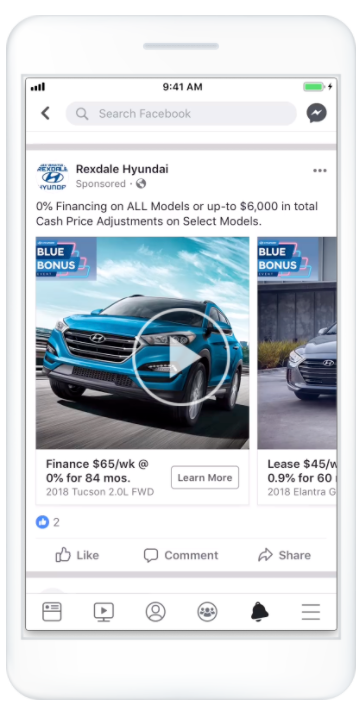 Facebook Product Ads example