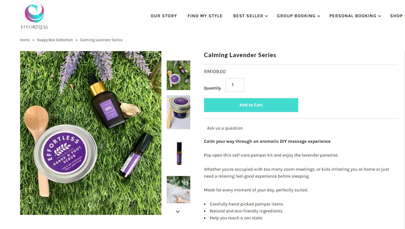 Calming Lavender Series Self-care
