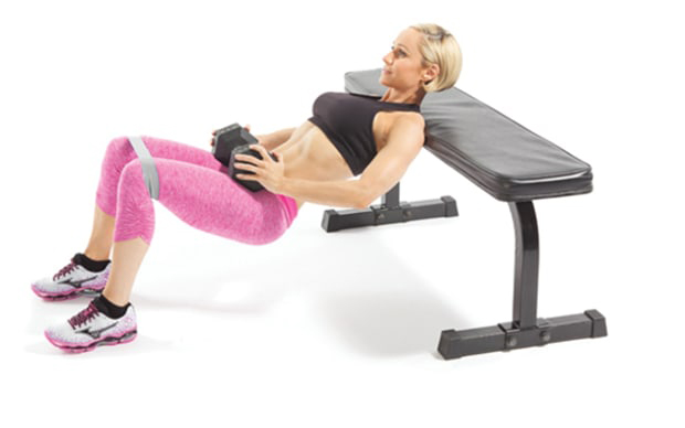 Hip thrusts are a great way to strengthen glutes.