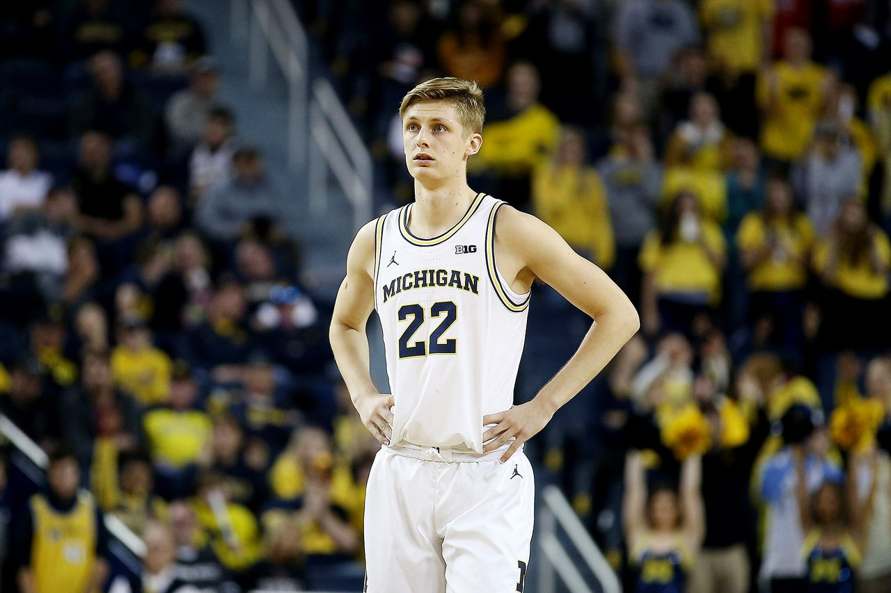 """The 6'7"""" freshman appeared in only nine games this past season. Photo: Mike Mulholland MLive.com"""