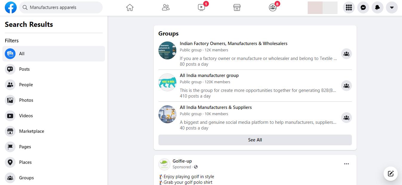 facebook to find amazon supplier