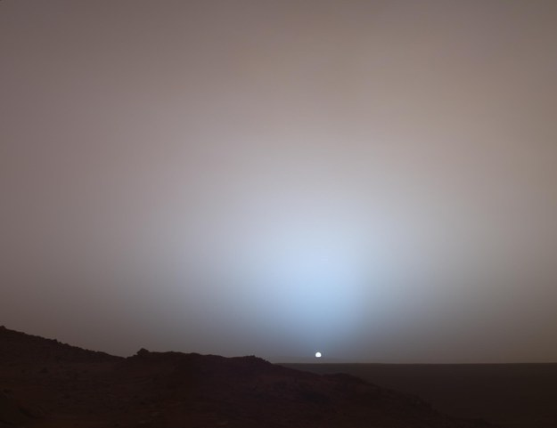 And here's that same sun from the surface of Mars: