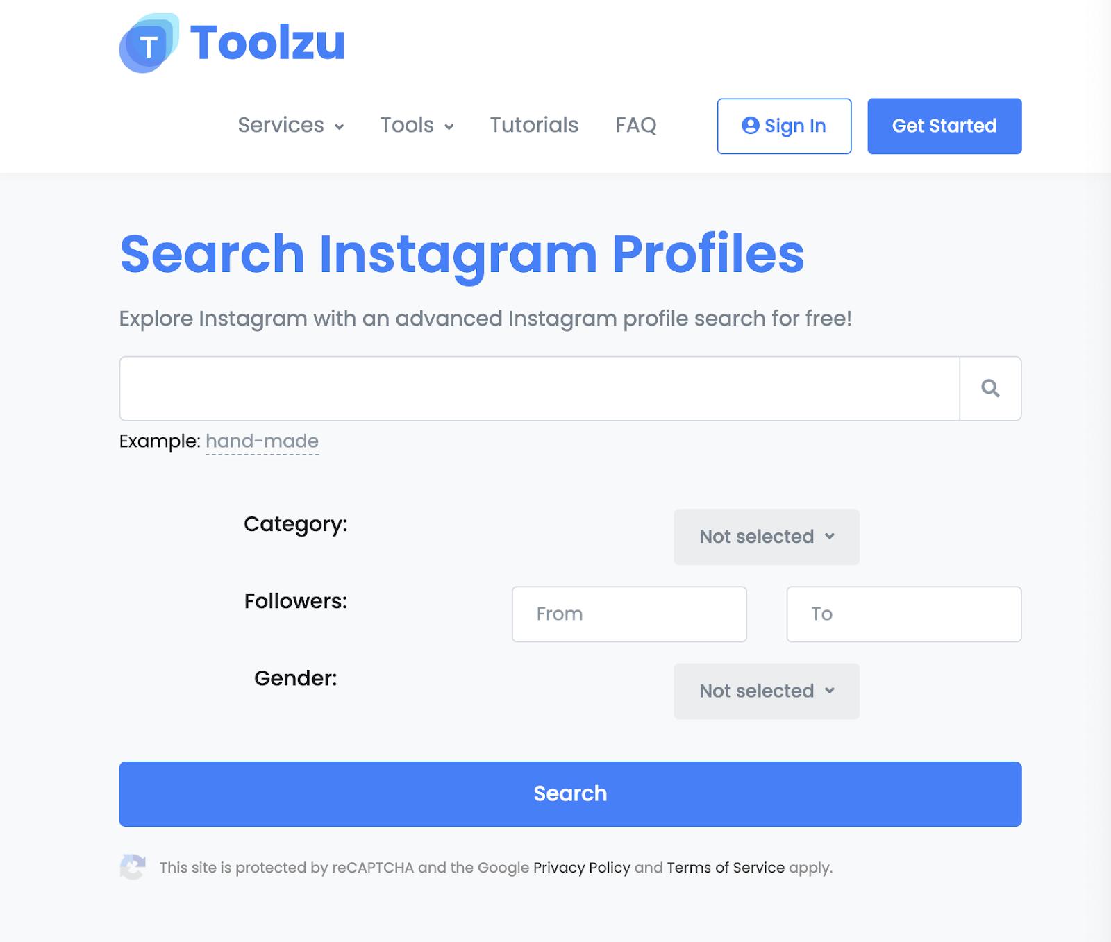 toolzu instagram profile search photo