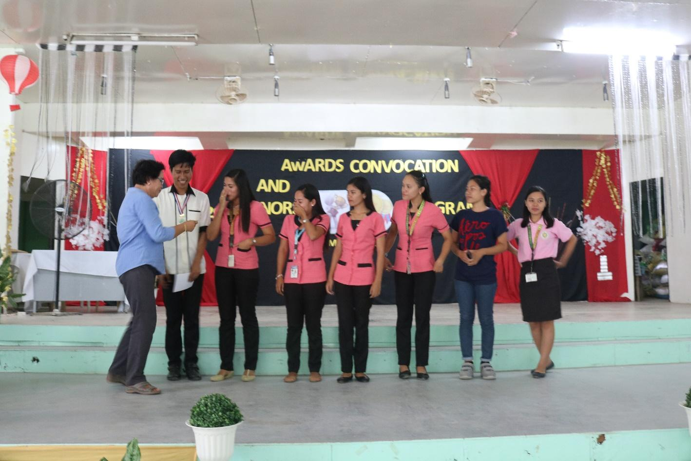 ABOUT THE PROGRAM. BSEd students receiving their academic awards during the convocation program