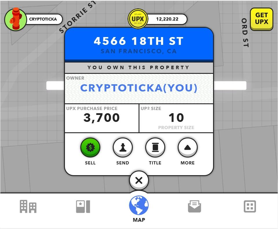Upland blockchain game