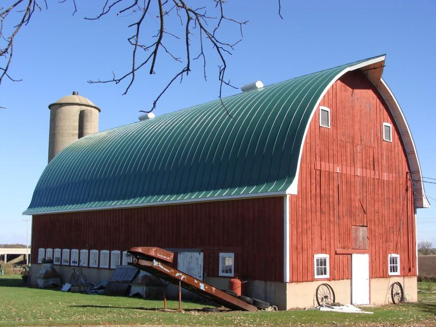 Mái tôn vòm trang trại