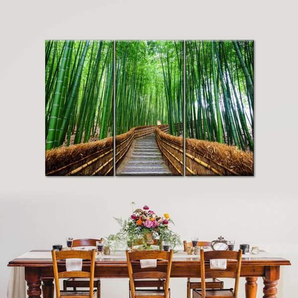 Bamboo Pathway Multi Panel Canvas Wall Art