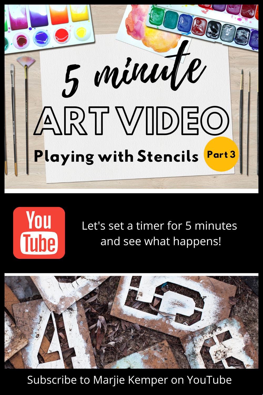 5 Minutes Art Videos with Stencils