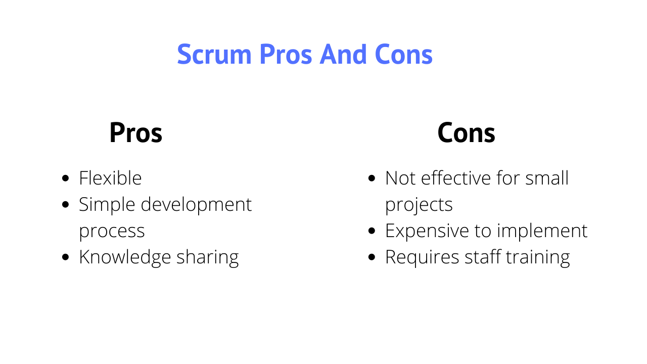 Pros and cons of Scrum model