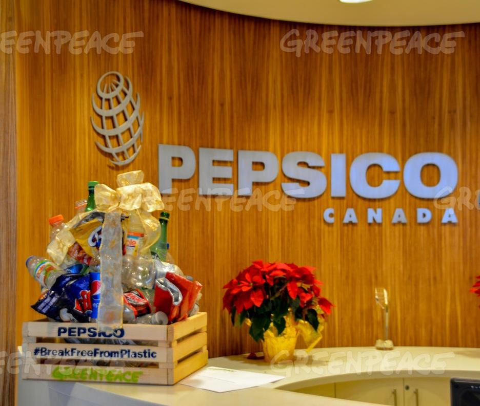 Single-Use Plastic Gift Basket Delivered to Pepsico