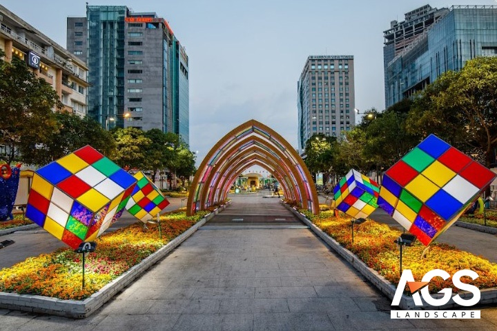 Thiết kế Đường hoa Nguyễn Huệ nổi tiếng của công ty AGS