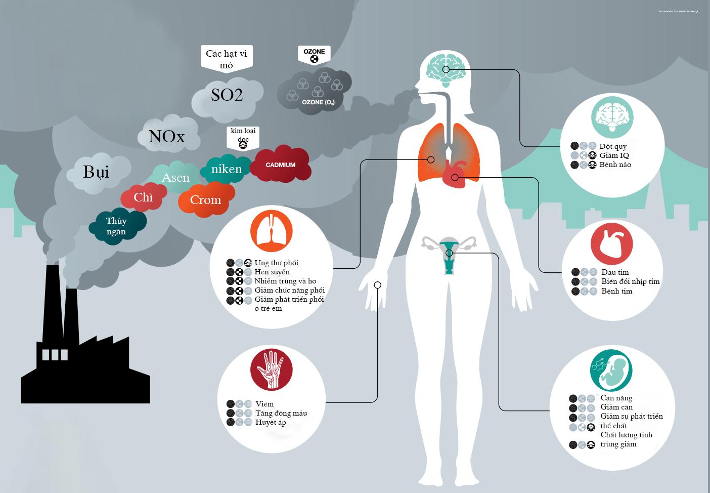 ô nhiễm môi trường ảnh hưởng tới sức khỏe