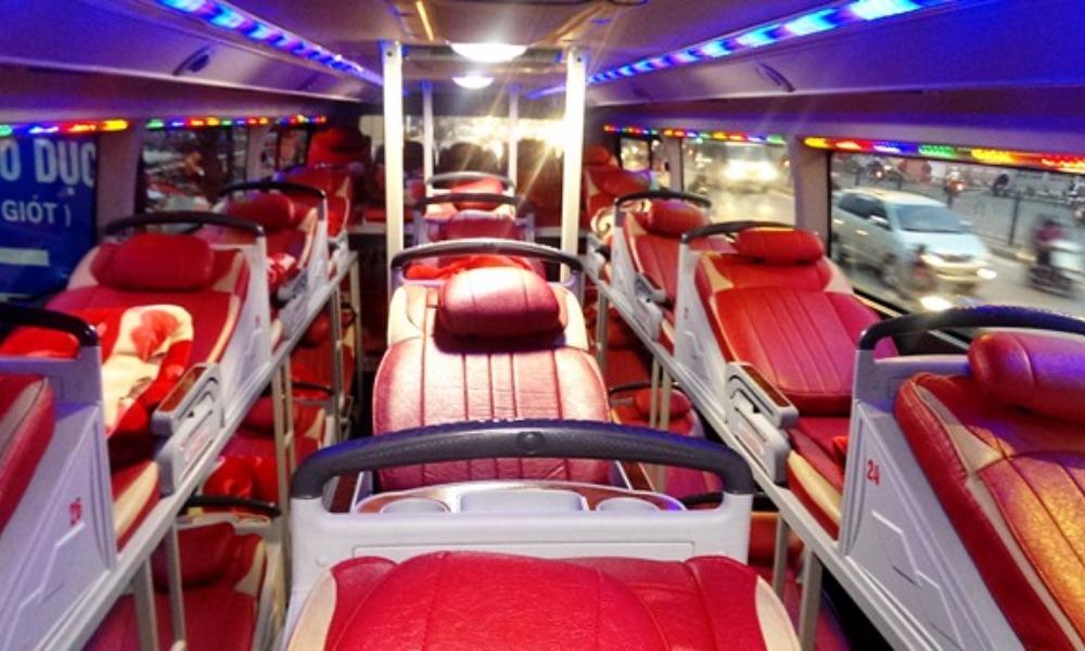 Nội thất xe giường nằm Sao Việt đi Sapa